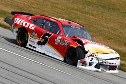 Michael Annett, JR Motorsports Chevrolet accidente