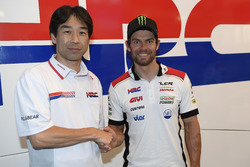 Tetsuhiro Kuwata HRC Director and Cal Crutchlow