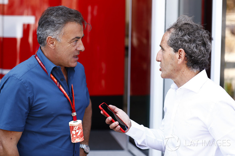 Jean Alesi and Alain Prost