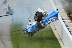 Scott Dixon, Chip Ganassi Racing Honda, büyük kaza