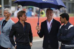 Damon Hill, Nico Rosberg, David Coulthard, Karun Chandhok
