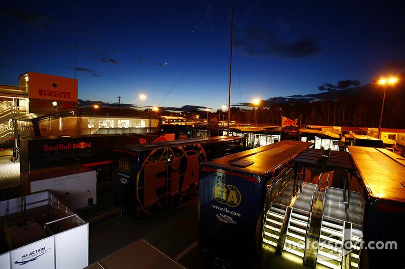 The paddock at twilight