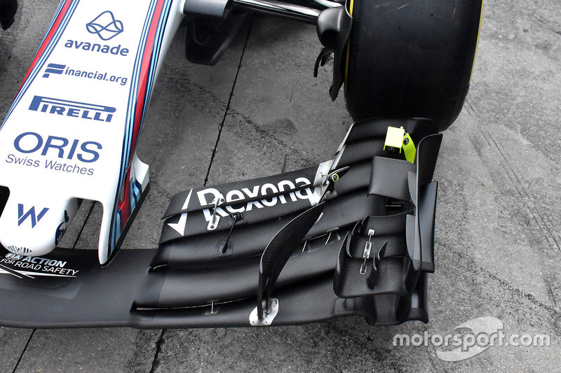 Williams detail front wing
