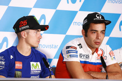 Маверик Виньялес, Yamaha Factory Racing, и Данило Петруччи, Pramac Racing