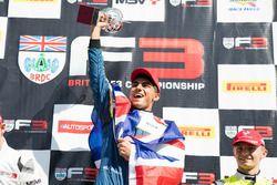 Race winner Enaam Ahmed, Carlin