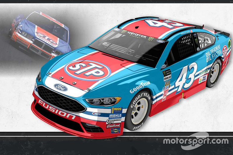 Throwback-Design: Aric Almirola, Richard Petty Motorsports Ford