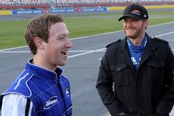 Facebook CEO Mark Zuckerberg and Dale Earnhardt Jr.