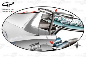 Mercedes F1 W08, T-wing