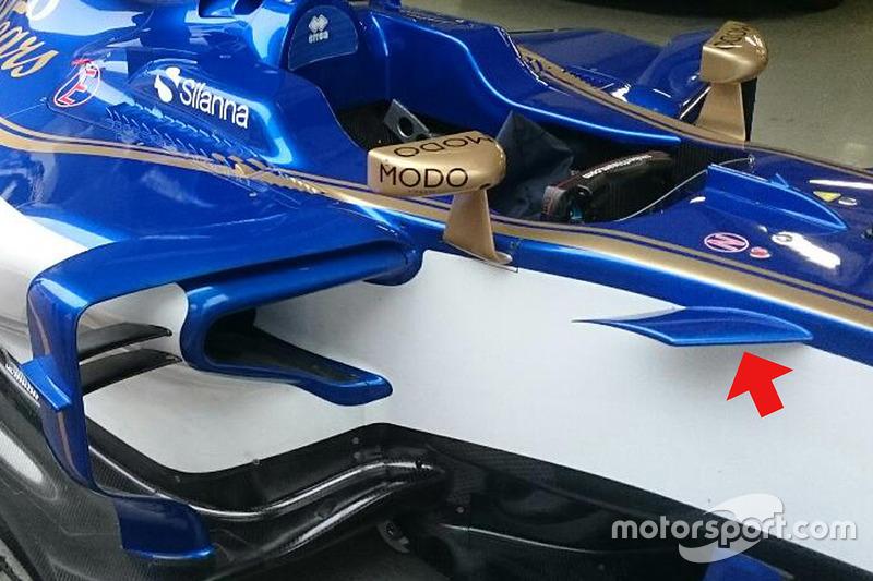 索伯C36赛车侧面细节图