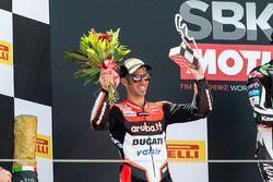 Podium: second place Marco Melandri, Ducati Team