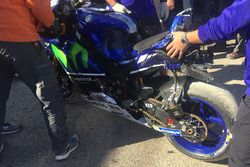 Valentino Rossi, Yamaha Factory Racing bike after his crash