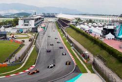 Fernando Alonso, McLaren MCL32, Felipe Massa, Williams FW40, Nico Hulkenberg, Renault Sport F1 Team
