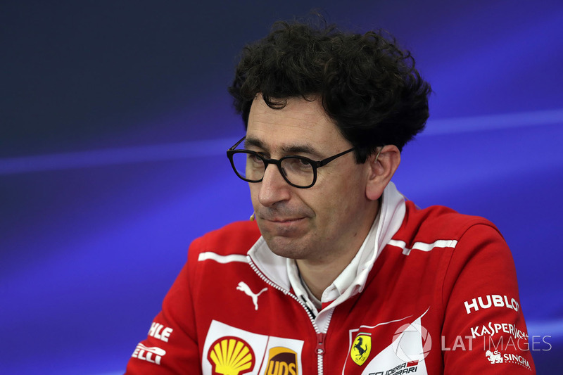 Mattia Binotto, Ferrari Race Engine Manager in the Press Conference