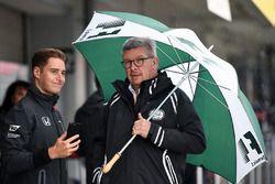 Stoffel Vandoorne, McLaren en Ross Brawn, directeur autosport FOM