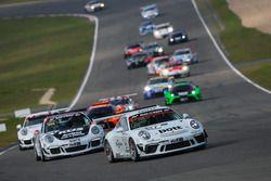 Christoph Breuer, Moritz Oberheim, Lars Kern, Porsche 911 GT3 RS
