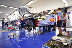 La voiture de Dani Sordo, Marc Marti, Hyundai i20 WRC, Hyundai Motorsport