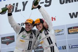 GTD Podium: second place #93 Michael Shank Racing Acura NSX: Andy Lally, Katherine Legge