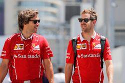 Sebastian Vettel, Ferrari, his trainer Antti Kontsas