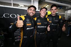 Ganadores de la pole Adam Christodoulou, Yelmer Buurman, Luca Stolz, Mercedes-AMG Team Black Falcon