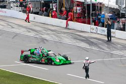 Winner #2 ESM Racing Honda HPD Ligier JS P2: Scott Sharp, Ed Brown, Johannes van Overbeek, Pipo Derani heads to Victory Lane