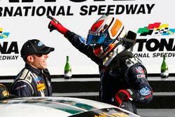 Winners Billy Johnson, Scott Maxwell, Multimatic Motorsports celebrate