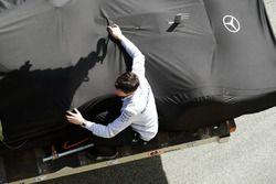 The Mercedes AMG F1 W07 Hybrid of Lewis Hamilton, Mercedes AMG F1