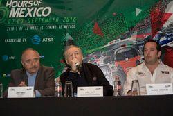 José Abed, Vice presidente de FIA México, Jean Todt, Presidente FIA y Ricardo González