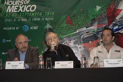José Abed, Vice president FIA México and Jean Todt, FIA President and Ricardo González, RGR Sport