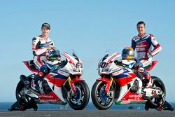 Nicky Hayden, Honda WSBK Team und Michael van der Mark, Honda WSBK Team