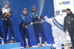 Podium: third place Mads Ostberg, Ola Floene, M-Sport Ford