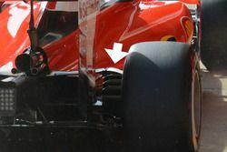 Détails de l'arrière de la Ferrari SF16-H