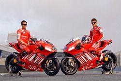 Loris Capirossi, Ducati Team et Casey Stoner, Ducati Team