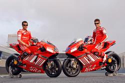 Loris Capirossi, Ducati Team y Casey Stoner, Ducati Team