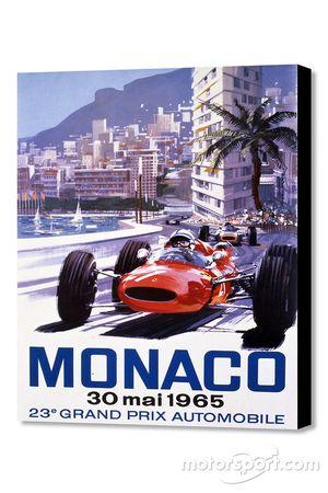 Poster clásico del GP de Mónaco