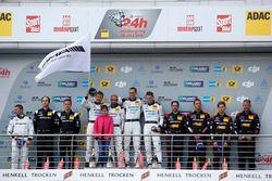 Podium: 2. #29 AMG-Team HTP Motorsport, Mercedes-AMG GT3: Christian Vietoris, Marco Seefried, Christ