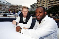 Nico Hulkenberg, Sahara Force India F1 ve Dominique Siby, Felio Siby CEO, Felio Siby yat partisinde