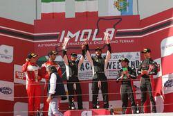 Podio Gara 1 GT3: Postiglione-Gagliardini, Imperiale Racing, Leo-Cheever, Scuderia Baldini 27 Networ