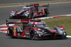 #8 Audi Sport Team Joest Audi R18 e-tron quattro: Lucas di Grassi, Loic Duval, Oliver Jarvis, #7 Aud