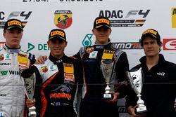 Podium: second place Simo Laaksonen, Motopark; Winner Joseph Mawson, Van Amersfoort Racing ; third place Nicklas Nielsen, Neuhauser Racing