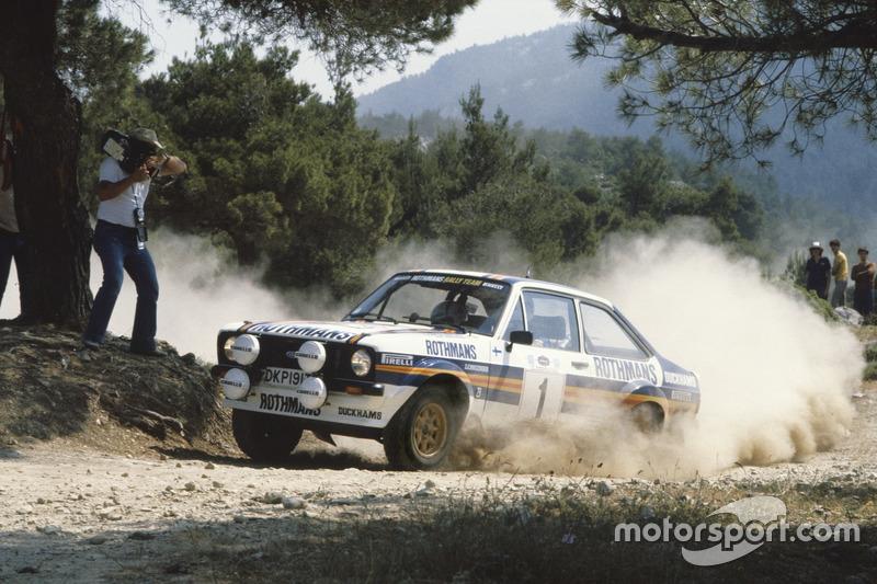 Ari Vatanen, con un Ford Escort RS1800 en el Rally de Acropolis 1981