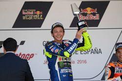 Podium: ganador, Valentino Rossi, Yamaha Factory Racing