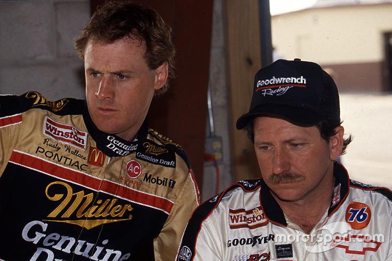 Rusty Wallace und Dale Earnhardt