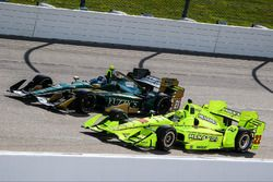 Josef Newgarden, Ed Carpenter Racing Chevrolet, Simon Pagenaud, Team Penske Chevrolet