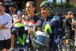 Jorge Lorenzo with cycling colombian ace Nairo Quintana