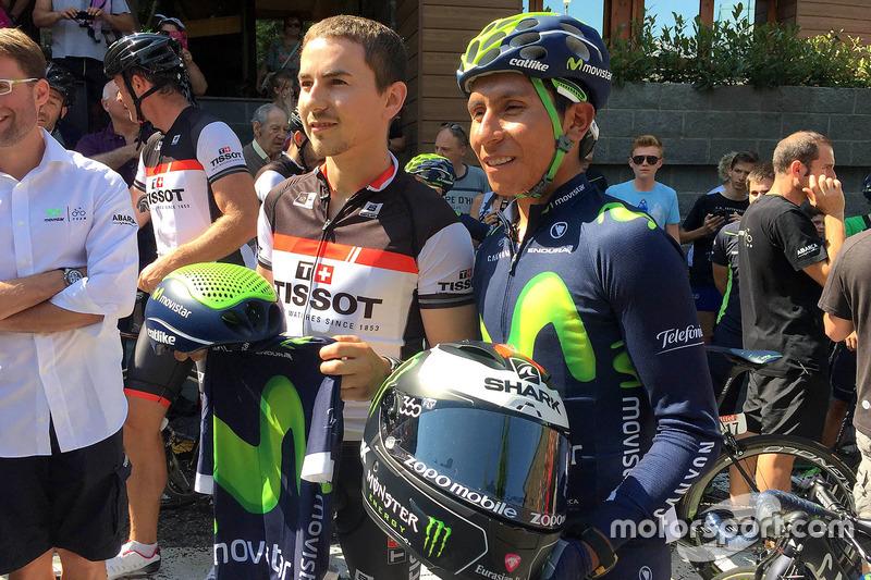 Jorge Lorenzo with cycling colombian ace Nairo Quintana