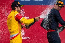 Podium: Sieger Pierre Gasly, Prema Racing; 2. Antonio Giovinazzi, Prema Racing