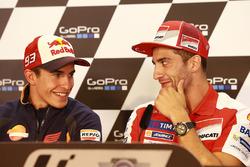 Marc Marquez, Repsol Honda Team et Andrea Iannone, Ducati Team
