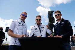 Maxime Martin, BMW Team RBM, BMW M4 DTM, Tom Blomqvist, BMW Team RBM, BMW M4 DTM; Marco Wittmann, BMW Team RMG, BMW M4 DTM