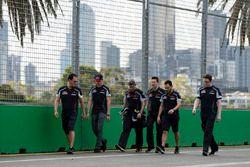 Max Verstappen, Scuderia Toro Rosso walks the circuit with the team