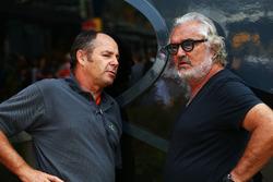 Gerhard Berger und Flavio Briatore